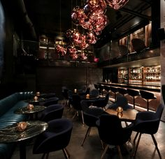 Design Research Studio, Tom Dixon's architectural and interior arm, has unveiled its first ultra-exclusive State-side hospitality project in the form of Himitsu, a cocktail lounge-bar in Atlanta. Lounge Design, Bar Lounge, Hookah Lounge, Lounge Seating, Outdoor Lounge, Lounge Club, Floor Seating, Lounge Ideas, Chair Design