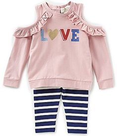 Fisher Price Girls 12 Month OUTFIT SHIRT Pink Plaid Legging Pant Dog Tulle Trim