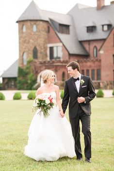 An Elegant Country Estate Wedding at Dover Hall. Black Tie Affair. Formal Wedding.