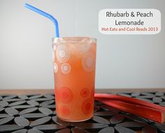 Rhubarb and Peach Lemonade Recipe Rhabarber-Pfirsich-Limonade von Hot Eats and Cool Reads Fruit Smoothie Recipes, Fruit Drinks, Non Alcoholic Drinks, Cocktails, Healthy Drinks, Rhubarb Desserts, Rhubarb Recipes, Refreshing Drinks, Summer Drinks