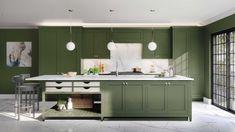Kitchen Cabinetry, Kitchen Flooring, Black Kitchens, Cool Kitchens, Beautiful Kitchens, Bordeaux, Latest Kitchen Trends, Kitchen Workshop, Big Kitchen