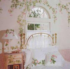 31 Trendy Ideas For Baby Girl Beedrom Shabby Chic Unique Window Treatments, Wall Treatments, Bedroom Murals, Bedroom Windows, Victorian Crafts, Victorian Houses, Feminine Bedroom, Cool Doors, Creative Walls