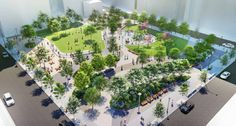 pershing square park renovation - Google Search Brooklyn, Shade Tolerant Plants, High Building, Heritage Center, World Crafts, Historical Monuments, Water Tower, Elements Of Art, City Art