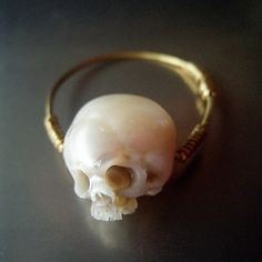 Unique Skull Jewelry Carved From Actual Pearls Is Badass