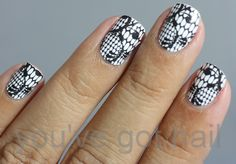 Nails + lace = awesome!