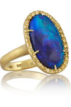 Kimberly McDonald Black Opal Ring