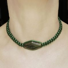 Choker for women, Green choker with Agate, Gemstone choker, Green Agate choker, Braided choker, Adjustable choker, Gemstone necklace Summer Necklace, Blue Necklace, Gemstone Necklace, Beaded Necklace, Green Agate, Minimalist Necklace, Agate Gemstone, Mother Gifts, Beautiful Necklaces