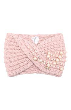 Crochet Flower Patterns, Baby Knitting Patterns, Crochet Flowers, Hand Knitting, Crochet Stitches, Knit Crochet, Crochet Hats, Laine Chunky, Knitted Headband Free Pattern