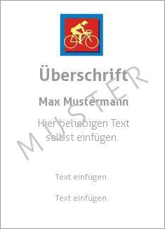 Muster Sporturkunde, Urkunde, Radsport Sportarten Pictogramm Radsport