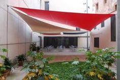 toldo vela triangular champán con ojales Techo solar para jardín balcón terraza