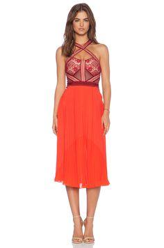 Three Floor True Romance Dress in Bordeaux & Lipstick Red | REVOLVE