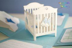 Explosion box baby shower / Explosion box zur Geburt eines kleinen Jungen