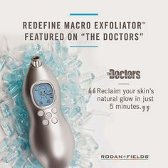 """Our Macro Exfoliator was featured on The Doctors, said to """"help you reclaim your skin's natural glow in just 5 minutes!"""" https://jenspector.myrandf.com/Shop/Product/AAMEX01 #thedoctors #macroexfoliator #inhomefacial #affordablefacial"""