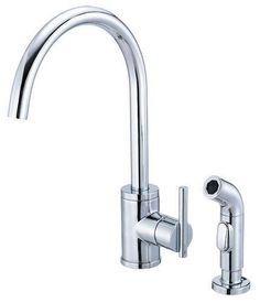 View the Danze D401558 Kitchen Faucet - Includes Metal Side Spray From the Parma Collection at FaucetDirect.com.