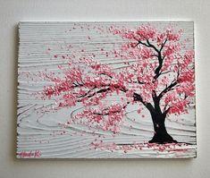 Blossom Tree Drawing blossom tree drawing - blossom t Easy Canvas Art, Acrylic Painting Canvas, Tree Painting Easy, Diy Tree Painting, Abstract Tree Painting, Tree Drawings Pencil, Cherry Blossom Painting, Tree Artwork, Blossom Trees