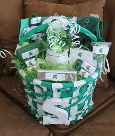 Michigan State Spartans Easter Basket