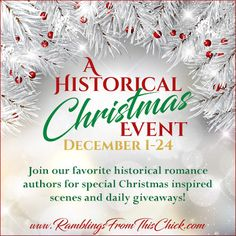 Check out this mega Historical Christmas event at RFTC blog. Books and gift cards aplenty to be won!  Tell them I sent you when you enter!