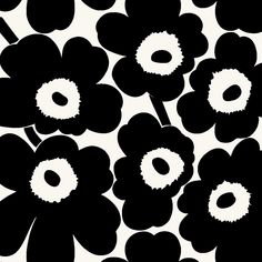 Marimekko Wallpaper, Marimekko Fabric, Pattern Wallpaper, Textile Pattern Design, Textile Patterns, Flower Patterns, Flower Background Wallpaper, Flower Backgrounds, Stencil Designs