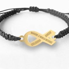 """ Imagine a World Without Cancer"" #Childhood #Cancer Bracelet"