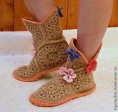 Delicadezas en crochet Gabriela: Botas grany técnica crochet