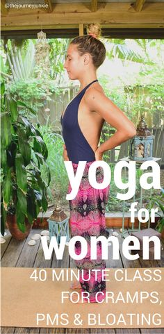 A Yoga Video for Women: Alleviate Cramps, PMS, and Bloating - Pin now, alleviate…