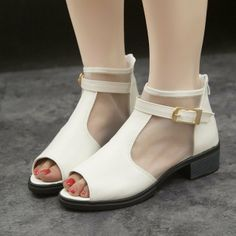 Free shipping new 2014women summer sandal wedge heels mesh fish head cool  boots with flat  increased gauze high shoes $25.90