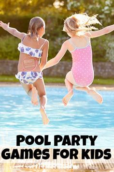 These kid friendly pool games are perfect for a pool party! #birthdaypoolparty