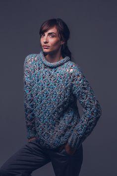 Masche 2014 - Initiative Handarbeit Diy Crochet, Lace Knitting, Knitting Patterns, Crochet Patterns, Men Sweater, Sweater Cardigan, Knit Sweaters, Crochet Pullover Pattern, Cardigan Pattern