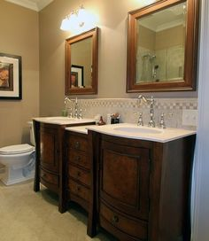 Double Sink with Drawers