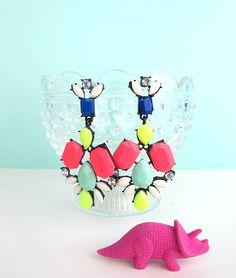 Neon deco chandelier earrings