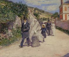 The Wedding March by Theodore Robinson