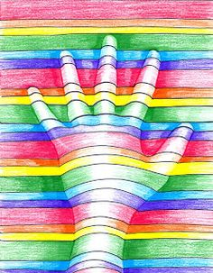Projects for teaching elements of art using hands