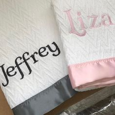 Monograms embroidery swell forever the perfect personalized forever blankets by swell forever with personalized message tags for twin baby shower gifts www negle Gallery