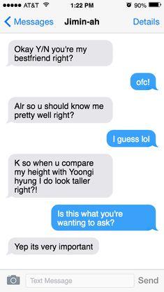 Funny Texts Jokes, Bts Texts, Funny Kpop Memes, Crazy Funny Memes, Fake Text Message, Text Imagines, Text Conversations, Bts Imagine, Funny Text Messages