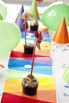 DIY rainbow table runner