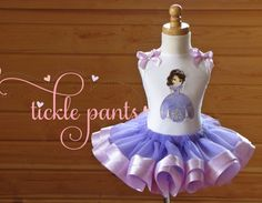 Sofia the 1st Birthday Tutu Outfit Lavender by TicklePants on Etsy