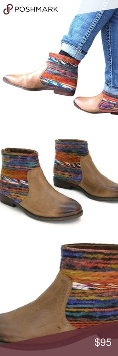 """Tilton Multi-Braided Boots by OTBT Sold out boot!  Women's zipped bootie, features a leather footbed for comfort, foam midsole for cushion & support. Durable rubber sole.  Approx. 1"""" heel height, Rear zip, Worn twice, tops. OTBT Shoes Ankle Boots & Booties"""
