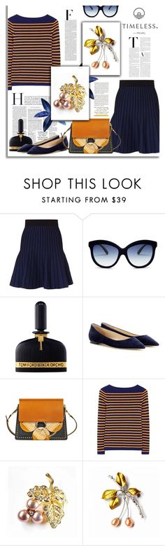 """""""Fruit Brooches"""" by timelesspearl ❤ liked on Polyvore featuring Maje, Nicki Minaj, Italia Independent, Tom Ford, Jimmy Choo, Chloé and M.i.h Jeans"""