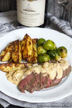 Maistuis varmaan sullekin!: Peuran ulkofile uunissa Steak, Beef, Food, Meat, Essen, Steaks, Meals, Yemek, Eten