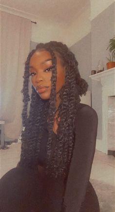 Baddie Hairstyles, Black Girls Hairstyles, Braided Hairstyles, Black Girl Braids, Girls Braids, Black Girl Aesthetic, Aesthetic Hair, Selfie Foto, Curly Hair Styles
