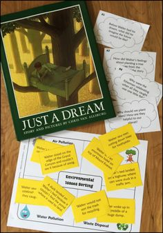 Free! Just a Dream to Save Our Planet is a collection of easy-prep activities to explore environmental issues based on the book by Chris Van Allsburg. Great for Earth Day or any day!