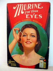 Vintage Murine advertising sign from the 1940s