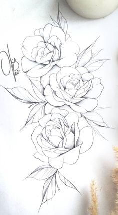 Рози трафарет Rose Tattoos, Body Art Tattoos, Flower Tattoos, Sleeve Tattoos, Piercing Tattoo, Piercings, Pencil Drawings, Pencil Art, Tattoo Sketches