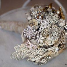 rhinestone brooch bridal bouquet