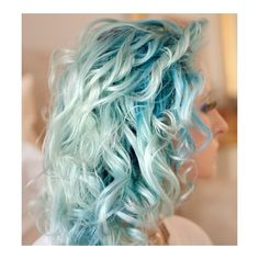 Ice blue hair. Colored Hair Favorites ❤ liked on Polyvore featuring beauty products, haircare, hair color, hair and hairstyles
