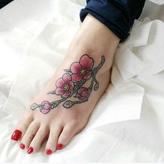 【paddy.dundon.tattoo】さんのInstagramをピンしています。 《Colourful cherry blossoms I made yesterday, cheer Helen!  #tattoo #tattoos #tattooarist  #tattooart  #cherryblossomtattoo #cherryblossom #ink #cherryblossoms #flowers #flowertattoo #flowertattoos #japanesetattoo #Japanese #japantattoo #japan #illustration #tattoodesign #colortattoo #colourtattoo #colourful #foottattoo  #tattooer #tattooed #pink #tattooaddict #art #flashworkers #bodyart #inked》