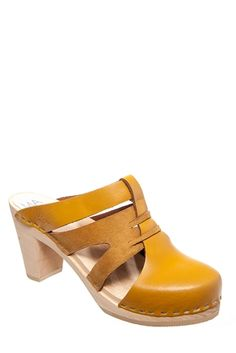 Maguba - Paris High Heel Clog - Natural Yellow