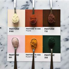 With her Pantone Food series, the creative American Lucy Litman is having fun transforming colorful foods and ingredients into appetizing Pantone colors