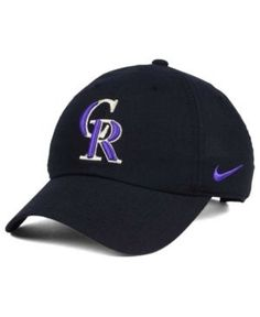 Nike Colorado Rockies Dri-Fit H86 Stadium Cap - Black Adjustable