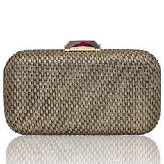Breen Woven Gold Fabric - KOTUR Clutch & Minaudiere #KOTUR #FW13